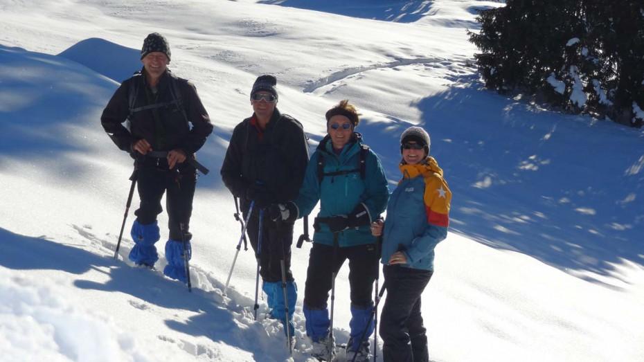 Blasius Heiß mit Schneeschuhtruppe