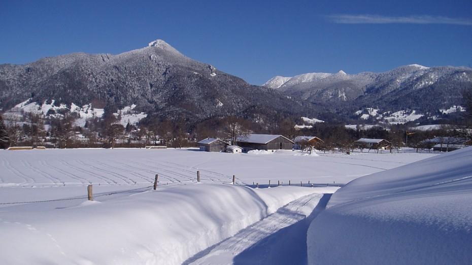 Winterlandschaft im Isarwinkel